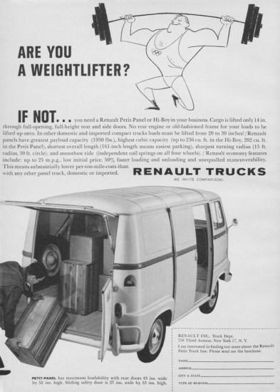 1960 Renault Petit-Panel ad