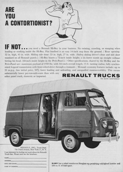 1960 Renault Hi-Boy ad USA