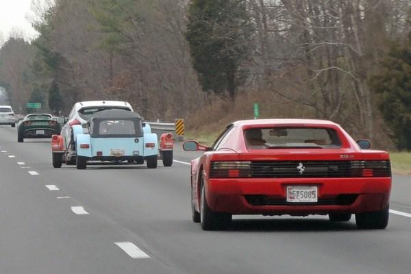 1992 Ferrari 512TR, Caterhan Seven 420R and 2005 Lotus Elise