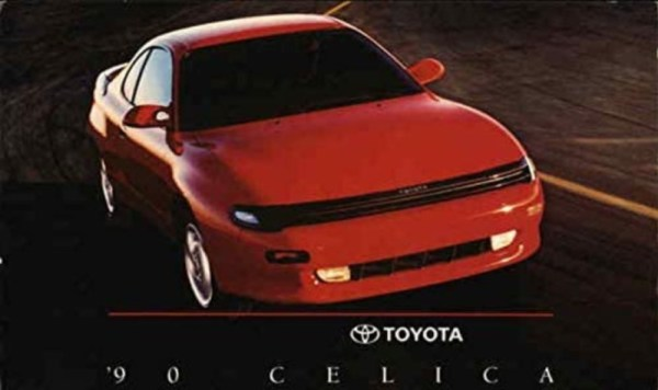 1990 Toyota Celica postcard image, as sourced from the internet.