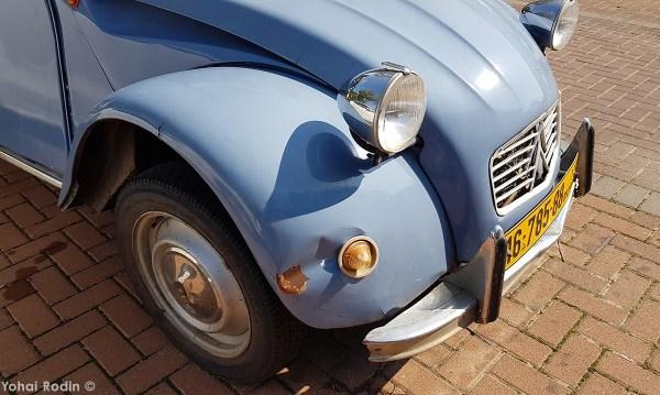Powder blue Citroen 2CV
