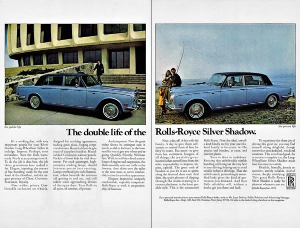 1972 Rolls-Royce Silver Shadow ad