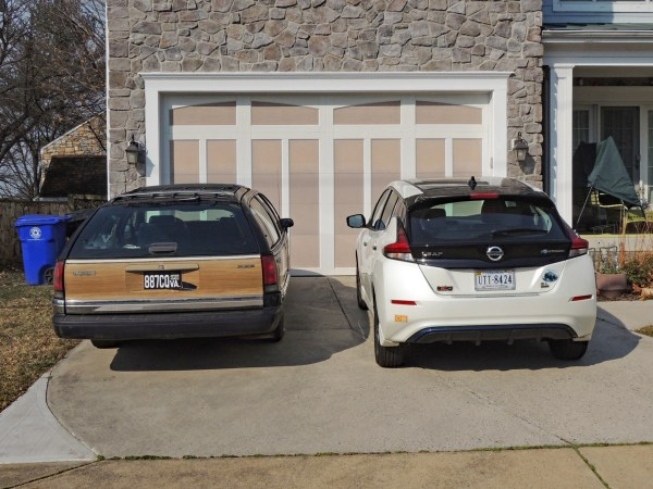 1992 Buick Roadmaster Estate Wagon and 2019 Nissan Leaf