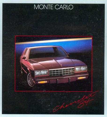 1984 Chevrolet Monte Carlo brochure photo 1