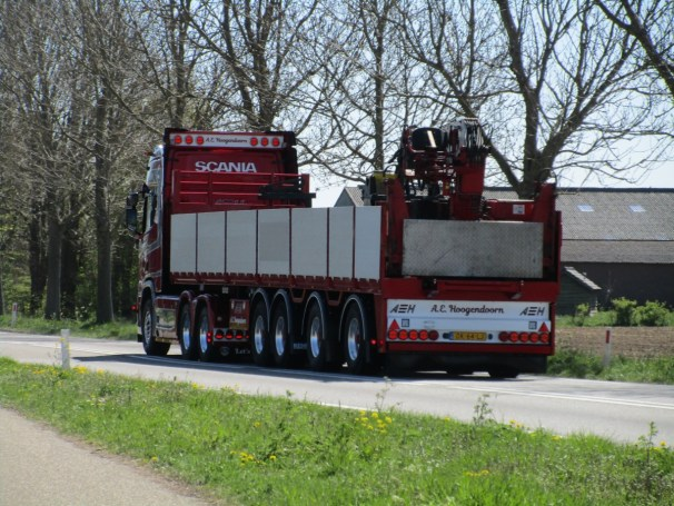 2018 Scania R580 tractor and 2008 Kennis semi-trailer