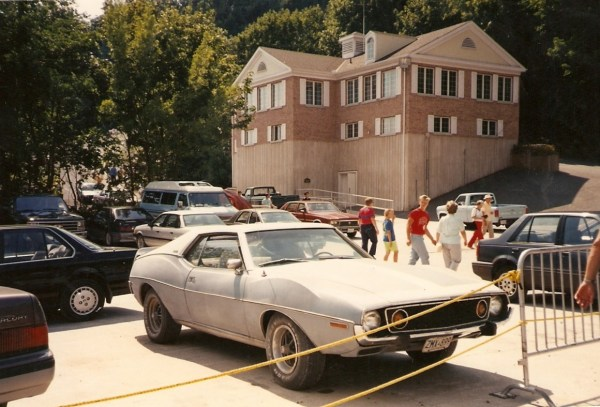 1973 or '74 AMC Javelin AMX. Niagara Falls, New York. Summer 1990.