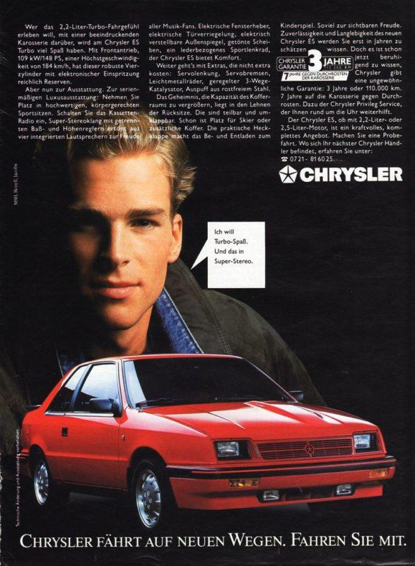 Chrysler ES advert