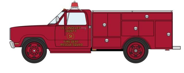 1972 Dodge D300 LACoFD Squad 51