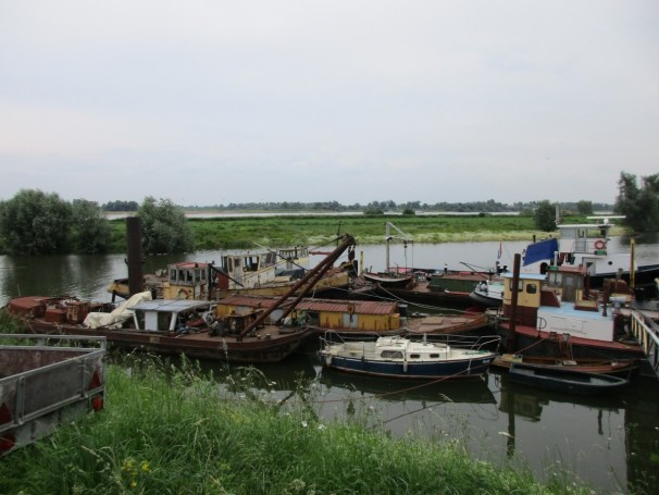 old vessels - river scenery