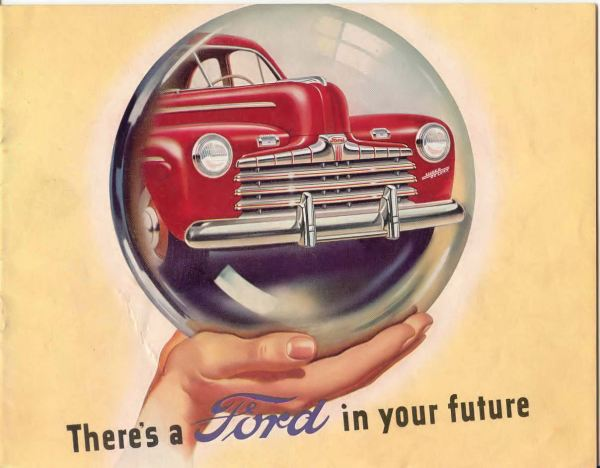 1946 Ford brochure photo was sourced from www.oldcarbrochures.com.