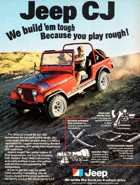 1979 Jeep CJ-7 Renegade print ad, as sourced from the internet.