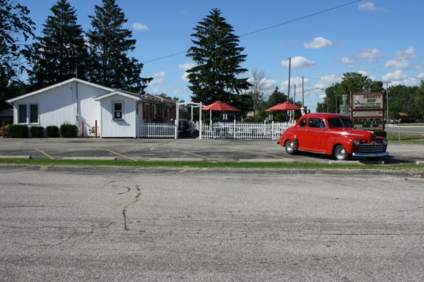 1946 Ford Super DeLuxe Tudor sedan. Watervliet, Michigan. Sunday, August 5, 2012.
