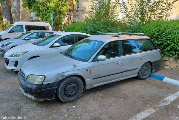 Silver Subaru B4 Legacy Station Wagon