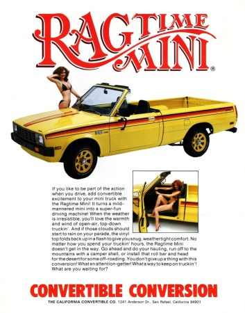 California Convertible Co. Ragtop Mini Ad