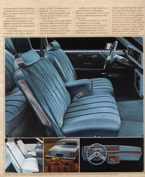 1979 Oldsmobile Cutlass Supreme brochure photo courtesy of www.oldcarbrochures.com.