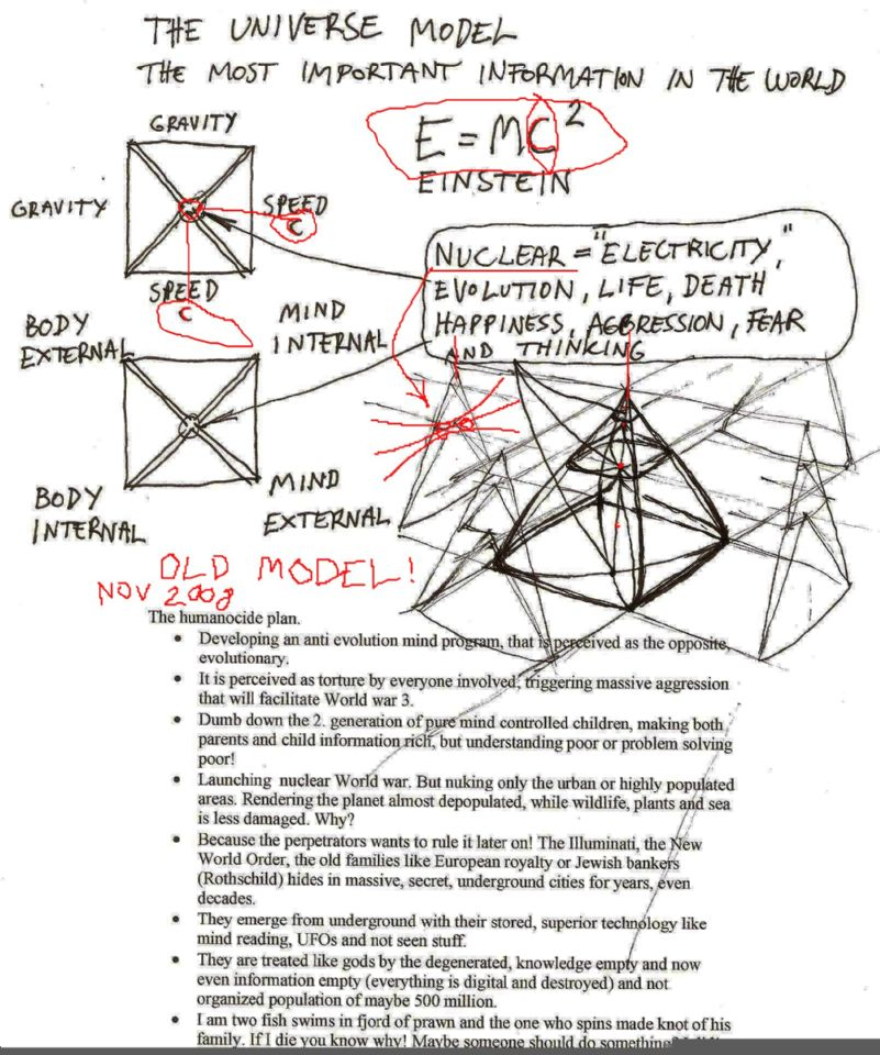 First drawing of Universe model. So important it may be