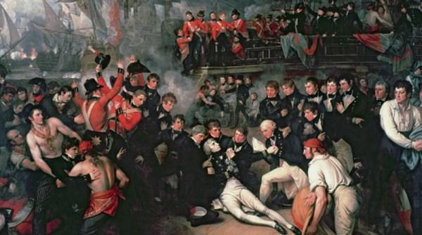 Le corps de Nelson fut mis en eau-de-vie
