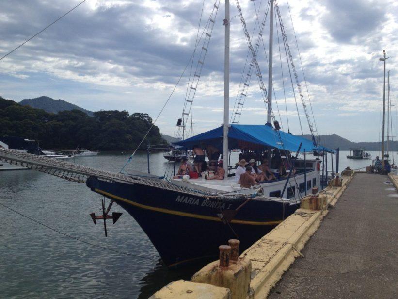 Ilha Anchieta - Chegada