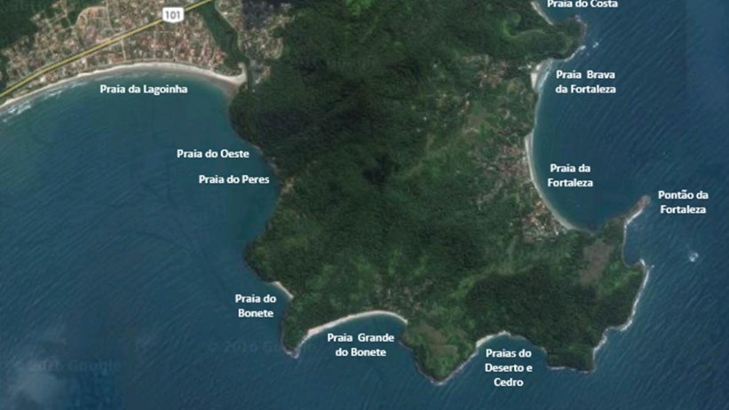 Mapa da Trilha das 7 Praias