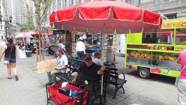 New York, guida fotografica. carretti sulle strade