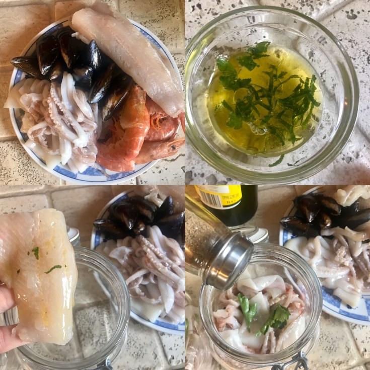 Zuppa di pesce in barattolo