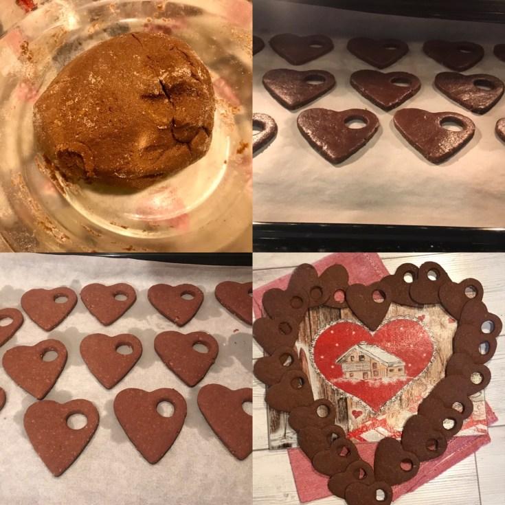 Biscotti cuore di cacao e mandorle, senza glutine, con farina di Riso.