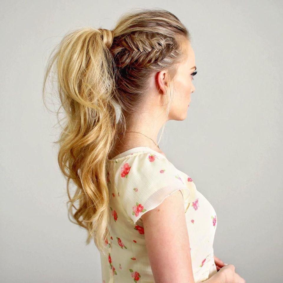 Peinado cola de caballo