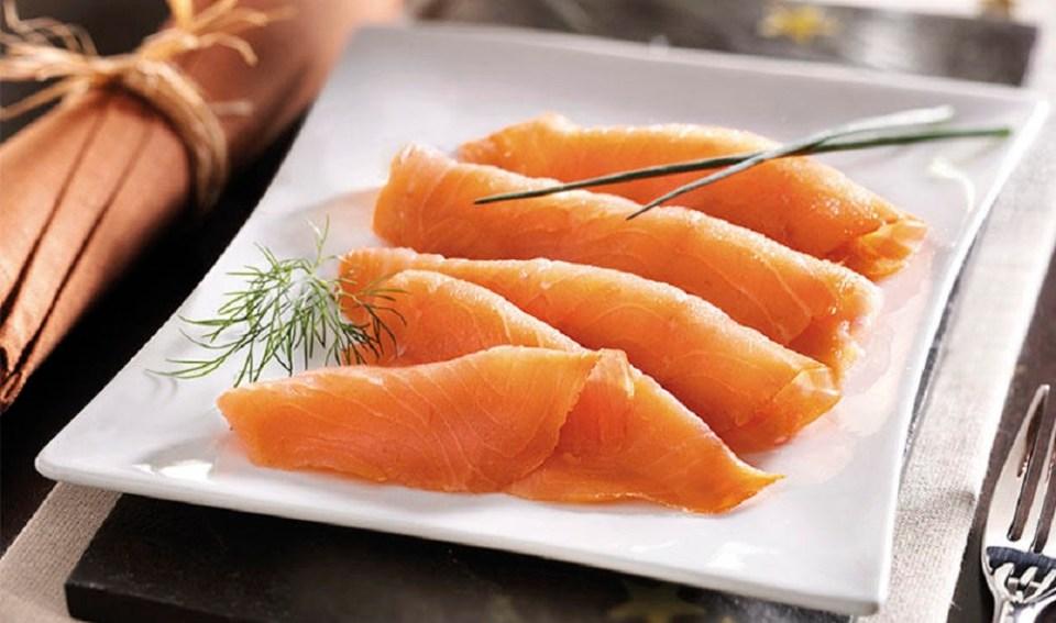 Receta con salmón ahumado