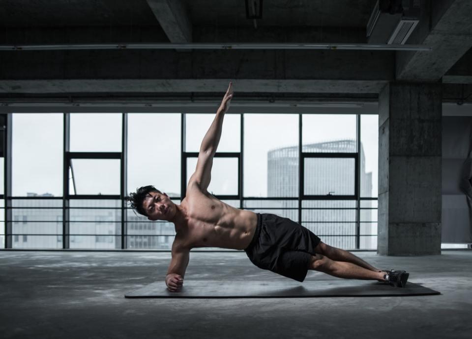 Plancha lateral para ejercicios isométricos