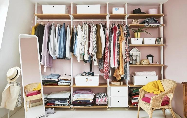 Ideas para almacenaje de ropa con muebles de Ikea