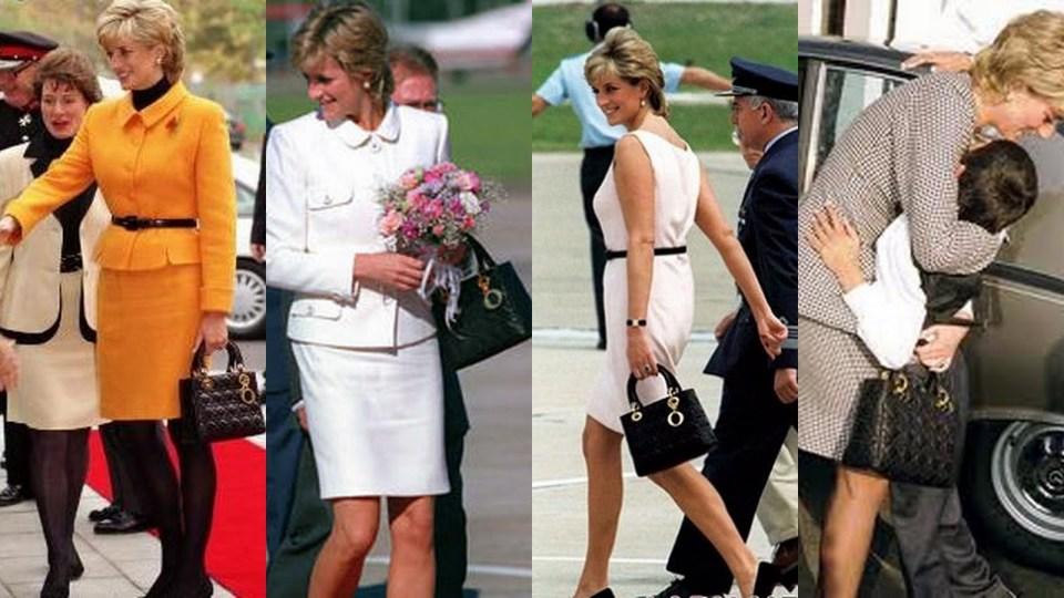 Diana de Gales marcó tendencia con uno de los bolsos icónicos más famosos: el Lady Dior