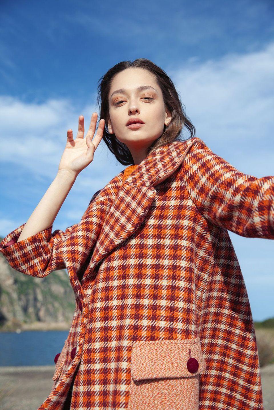 abrigo estampado, entre las mejores recomendaciones de abrigos para este invierno