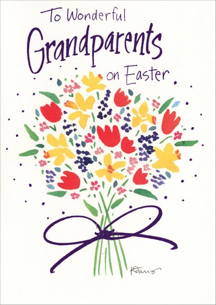 To Wonderful Grandparents 1 Card1 Envelope Easter Card