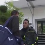 """¿Quién es usted?"""": Guardia no reconoce a Rafa Nadal y casi le impide entrenar en París"""