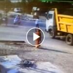 VÍDEO INCREÍBLE: Un camión atropella a un hombre y se levanta al instante.