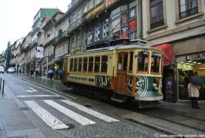 tramway vintage de Porto
