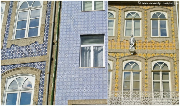 house facades with azulejos