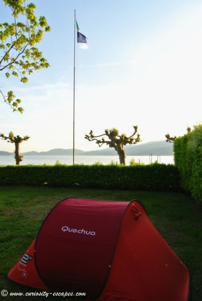 Camping at Lago Maggiore: waterfront spot