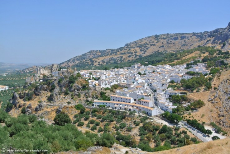 Zuheros, Pueblo Blanco, standing on a steep hill and overlooking olive trees plantations