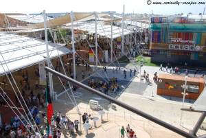 L'Expo vue du haut de la terrasse du Pavillon Etats-Unis