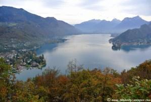 lac d'Annecy vu du Roc de Chère