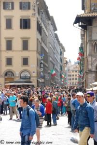 Foule à Florence