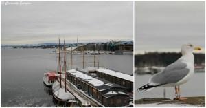 Fjord d'Oslo en hiver