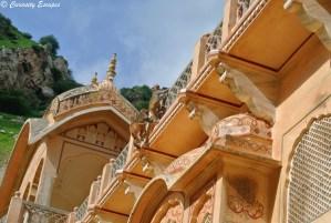 Singes escaladant les temples, Jaipur