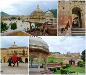 Dans le Fort d'Amber, en périphérie de Jaipur