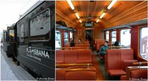 Le train de Flåm, ambiance vintage