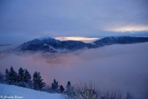 Coucher de soleil du haut du Mt Floyen, Bergen