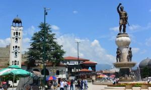 Statues dans le centre-ville de Skopje