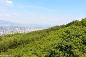 Paysage de Skopje vu du téléphérique, Mt Vodno