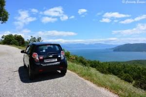Lac de Prespa vu du parc national de Galicica, Macédoine